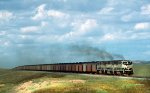 Three SD70MAC Take Coal South on the Powder River Basin Joint Line