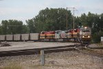 BNSF 9733, Leading KCS 4052, 4605. and 4780 at Airline Junction