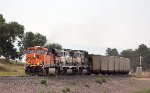 BNSF 5832, 9562, and 9566 Eastbound