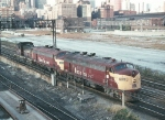 CRI&P 409, 109, and 417 from 12th St. Bridge in 1972