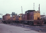 CRI&P Alco 417 with a Geep and two SW8s in 1969