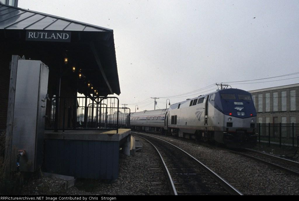 Amtrak Train 292 Ethan Allan Express at Rutland, VT
