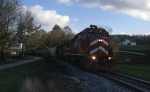 Vermont Railway Train 264 is westbound at East Wallingford, VT