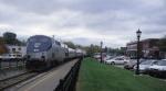 "Amtrak 55 the Southbound ""Vermonter"" at Essex Junction, VT"