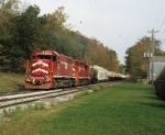 Vermont Railway Train RDMD (Rutland/Middlebury Turn) is seen at Florence, VT