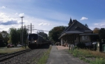 Amtrak 69, Adirondack Makes Station Stop at Ft. Edward, NY