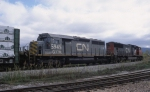 CN 324 is seen arriving into the New England Central yard at St. Albans, VT