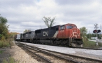 CN Train #324 is seen arriving at the New England Central Yard in St. Albans, VT