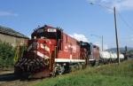 The Vermont Railway RDSW, Rutland Switcher is seen at Rutland, VT