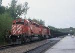 CP Rail Train at Saratoga Springs, NY