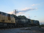 CSX, NS and UP at sunset