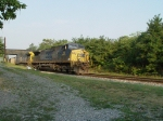 CSX 94 and CSX 461 Roll under the Bridge