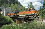 BNSF 4344 Exiting East Portal of Cascade Tunnel