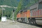 BNSF 113 heading toward West Portal of Cascade Tunnel