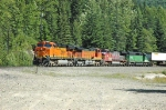 BNSF 7782 approaching East Portal of Cascade Tunnel