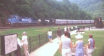 RB&BB Blue Unit starts around Horseshoe Curve