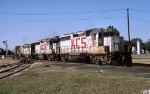 KCS freight w/Funit slug at DeQuincy,La
