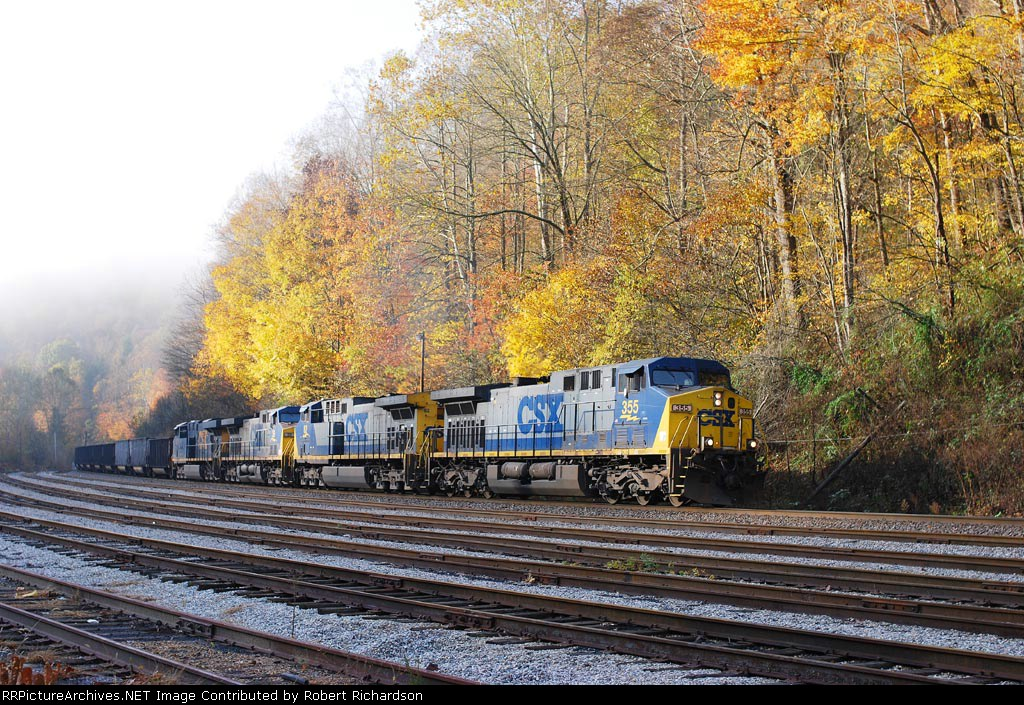 NB CSX Empty Hopper Train