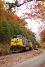 NB CSX Empty Hopper Train