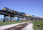 lift-off of CSX to UP intermodal transfer over the Huey Long Bridge