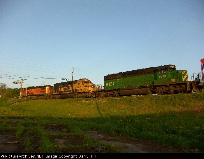 BNSF 848 leads a colorful consist