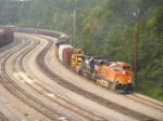 """Swoosh"" logo BNSF 7749 snakes his way out of Macon"