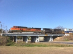BNSF 1084 crosses over