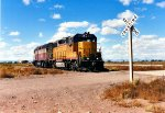 Eastbound heading to the yard at Alamosa