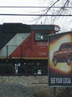 GTW 5934's cab