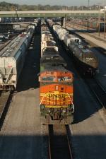 BNSF 551 East prepares to depart Argentine Yard