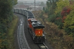 BNSF DPU on sbd coal load in the Gooseneck