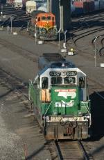 BNSF switcher locomotives at Argentine Yard