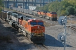 BNSF northbound coal trains at the West Bottoms