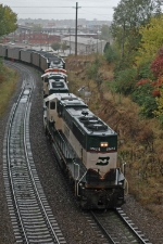Three-unit DPU on coal load in the Gooseneck