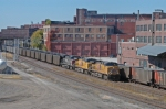 UP coal trains meet in the West Bottoms