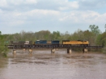 UP 4073 crossing Flint River