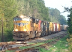 UP 5019 leads a colorful consist