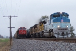 Southbound Manifest With UP 4141 Passes Tied Down Southbound Auto Train