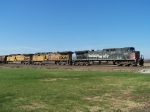 Northbound Empty Grain Train With SP 373, UP 5643, and UP 6681
