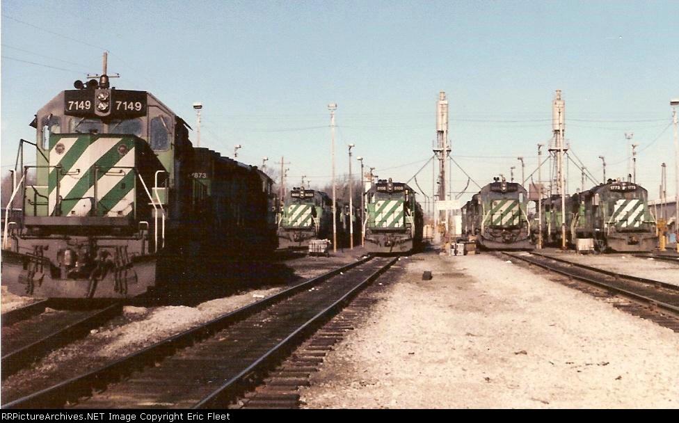 Burlington Northern locomotive engines