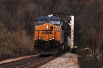 mty coal train exits tunnel and heads on to bridge at starnes siding