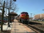 BNSF 573 rolls East
