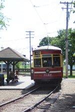 CTA 3142 at the IRM trolley platform