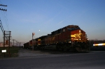 The moon rises over BNSF 5198 at Aurora.