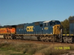 Closeup of CSX 8722