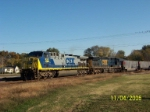 CSX 522 leads southbound coal train