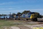 CSX 7717 leads grain train northbound