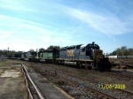 CSX 8486 leads northbound train Q128