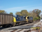 CSX 7395 with mate on northbound grain train