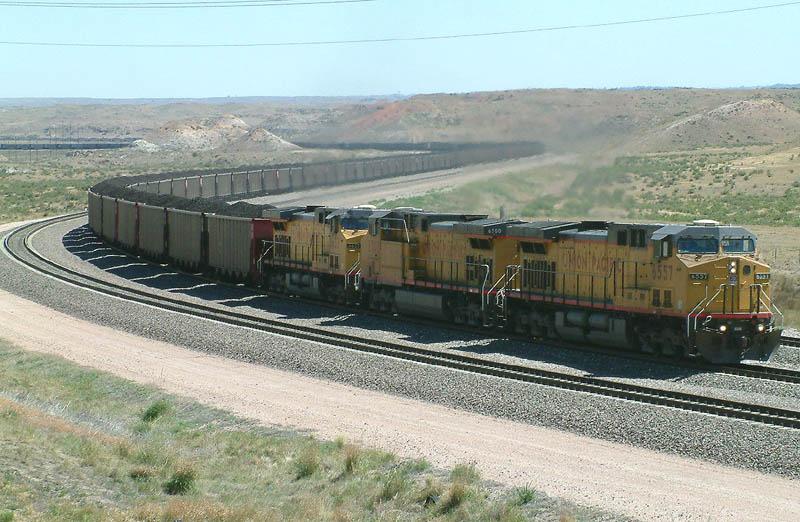Super S curve coal train